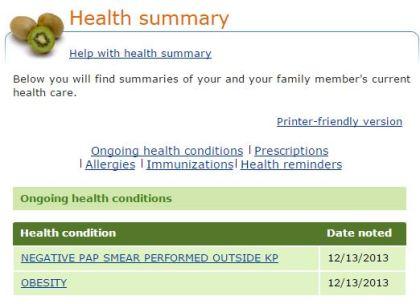 Health Summary